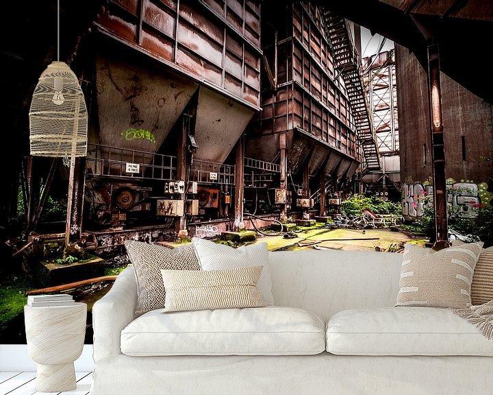 Sfeerimpressie behang: Staalfabriek machines van SchippersFotografie
