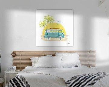 Beach Cruiser I, Farida Zaman van Wild Apple
