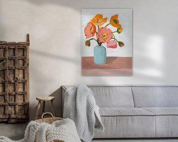 Sorbet Poppies II, Pamela Munger van Wild Apple