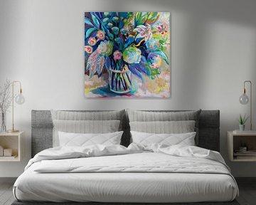 Blüte 24x24., Jeanette Vertentes von Wild Apple