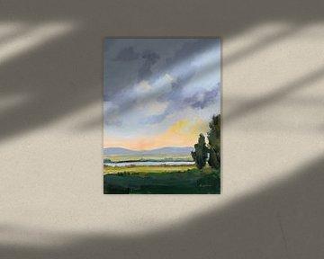 Avond skies III, Pamela Munger van Wild Apple