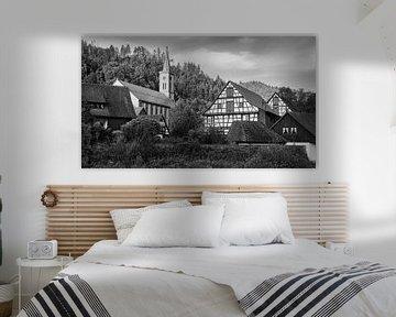 Vakwerkhuizen in Schiltach  in zwart-wit van Henk Meijer Photography
