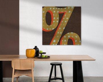 Tunctuated Square VI - Retro, Michael Mullan van Wild Apple