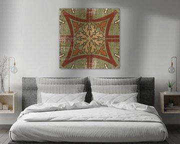 Marokkaanse patchwork Red Tile V, Pela Studio van Wild Apple