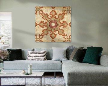 Marokkaanse patchwork Red Tile III, Pela Studio van Wild Apple