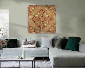 Marokkaanse patchwork Red Tile II, Pela Studio van Wild Apple