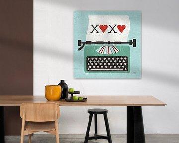 Retro-Desktop-Schreibmaschine Liebe, Michael Mullan von Wild Apple