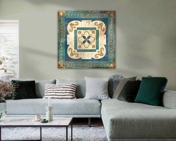 Marokkaanse tegels Blue XII, Cleonique Hilsaca van Wild Apple