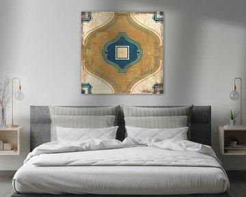 Marokkaanse tegels blauw x, Cleonique Hilsaca