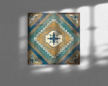 Marokkaanse tegels blauw v, Cleonique Hilsaca van Wild Apple