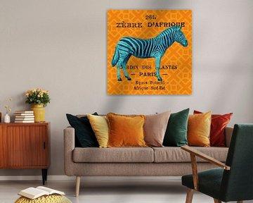 Heldere safari zebra, Sue Schlabach van Wild Apple