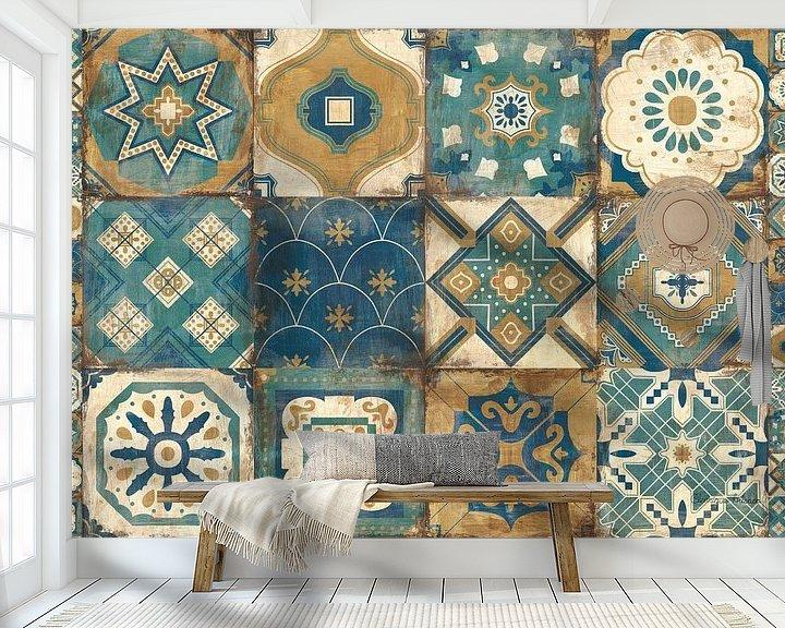 Impression: Tuiles marocaines bleues, Cleonique Hilsaca sur Wild Apple