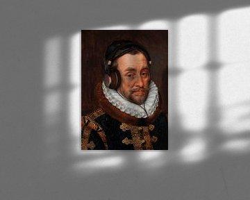 Porträt von Wilhelm I., Prinz von Oranien von Adriaen Thomas. Bitte nicht stören! von Maarten Knops