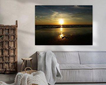 zonsondergang bergen aan zee van Jessica Berendsen