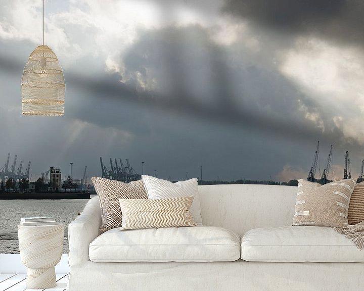 Beispiel fototapete: Spektakulärer Himmel über der Neuen Maas von Frans Blok