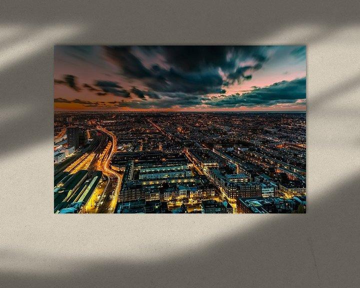 Sfeerimpressie: Den Haag Zonsondergang van Roy Poots