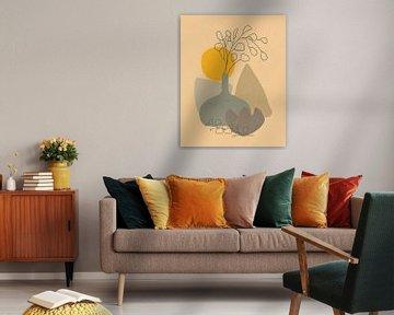 Minimalistisch stilleven met een eucalyptus tak van Tanja Udelhofen