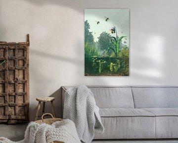 Sloot met bijen