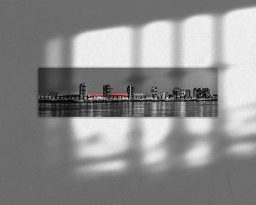 Panorama van De Kuip en de Veranda te Rotterdam