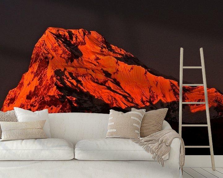 Sfeerimpressie behang: De rode bergtop van Atelier van Saskia