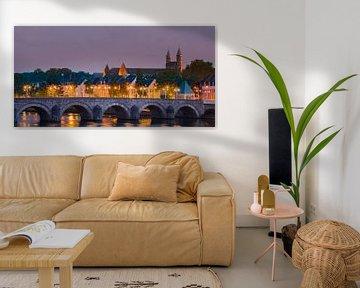 Panoramafoto van de Sint Servaasbrug in Maastricht