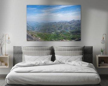 Val Thorens gezien vanaf Cime de Carron, Frankrijk van Christa Stroo fotografie