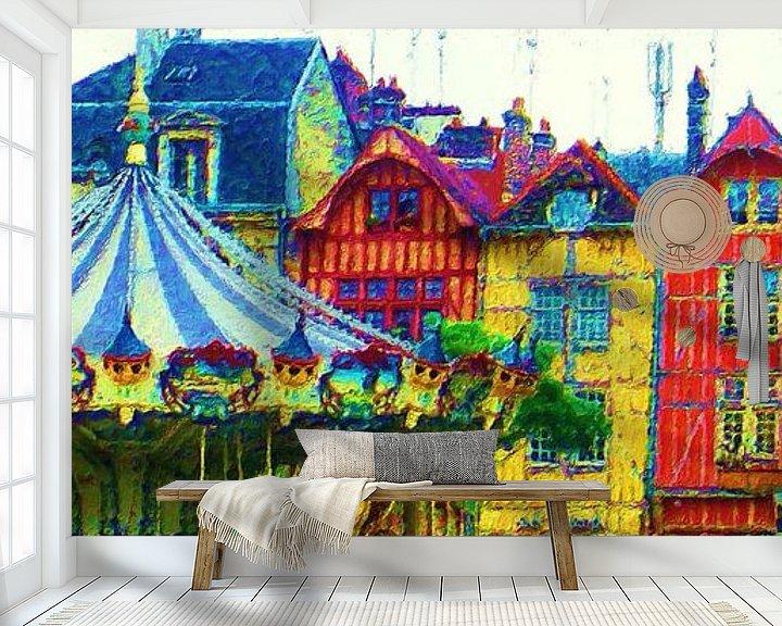 Sfeerimpressie behang: Kermis in Frankrijk van Frans Jonker