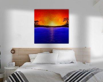 Tussen vuur en water. Schilderijen. van S.W. Colors