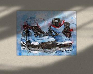 Nike air Jordan 4 Travis Scott Cactus Jack painting van Jos Hoppenbrouwers