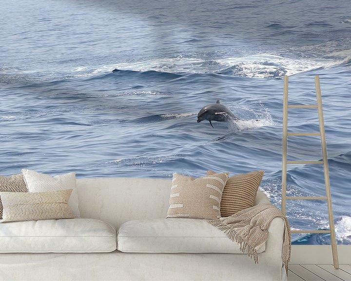 Sfeerimpressie behang: royal delfin van Rick Nijman