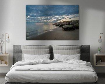 brouwersdam zonsondergang