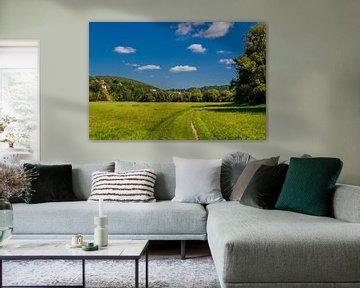 Prachtig landschap in de Werravallei van Oliver Hlavaty