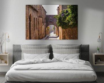 Ridderstraat in de oude stad van Rhodos-Stad van Werner Dieterich