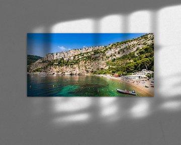 Plage de Cap-d'Ail sur la Côte d'Azur