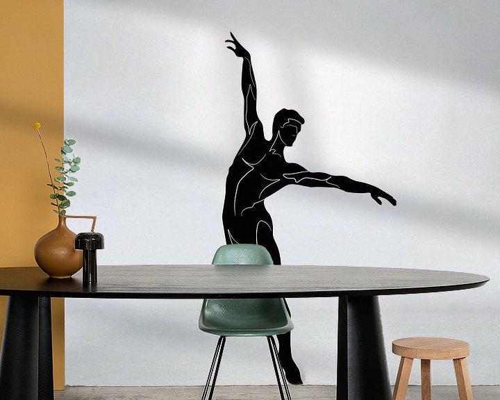 Sfeerimpressie behang: ballet van vecbase