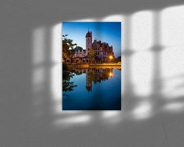 Blaue Stunde in Basedow von Martin Wasilewski