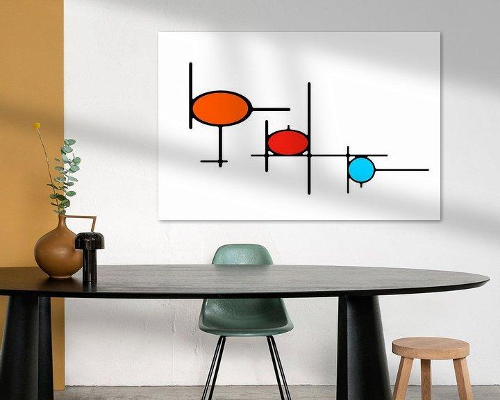 Sfeerimpressie: Organikaj Rondoj 1 van Henk-Jan van Tuyl