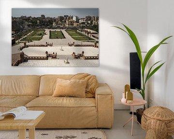 Héliopolis, Le Caire, Égypte, du haut du palais du Baron Empain, vue de jour. sur Mohamed Abdelrazek