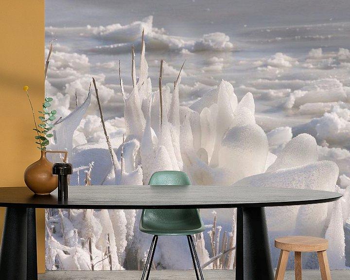 Sfeerimpressie behang: Ice van Brian Morgan