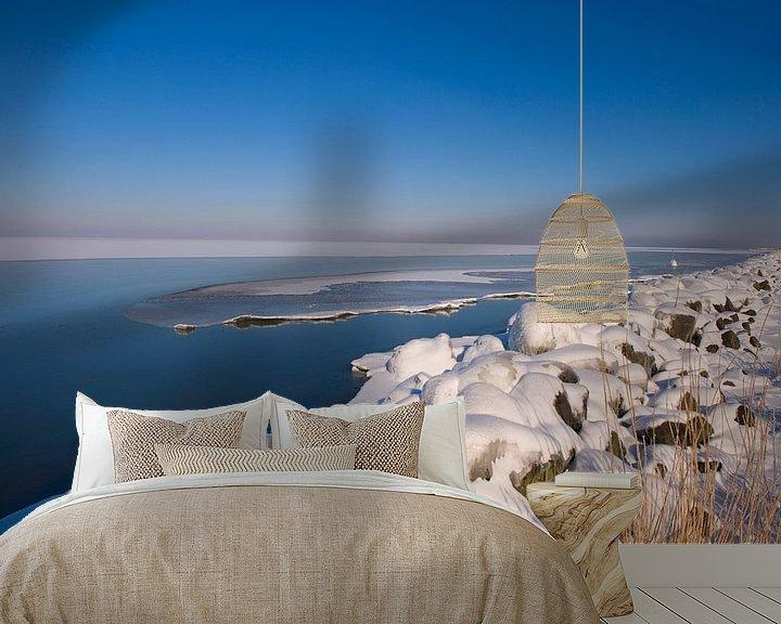 Sfeerimpressie behang: Winter landscape  van Brian Morgan