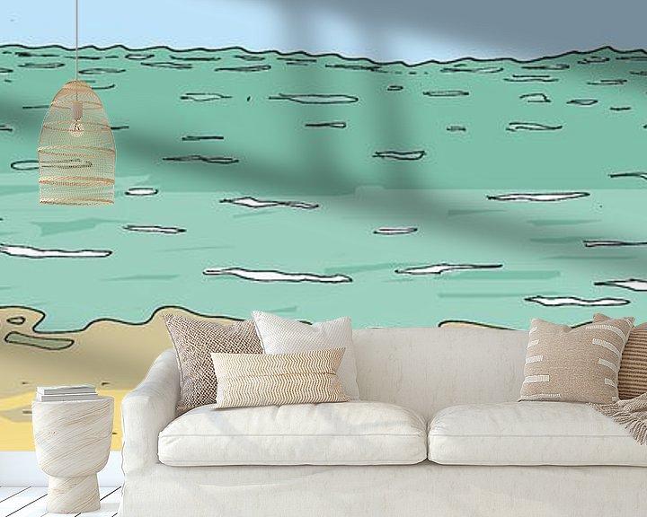 Sfeerimpressie behang: Krakye komt uit zee van Marq van Broekhoven