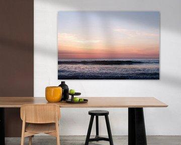 Zachte tinten zonsondergang op Ameland fine art fotografie van Karijn | Fine art Natuur en Reis Fotografie