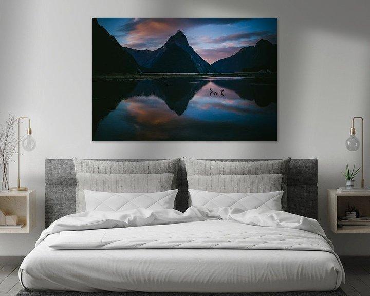 Beispiel: Sonnenuntergang am Milford Sounds von Jasper van der Meij