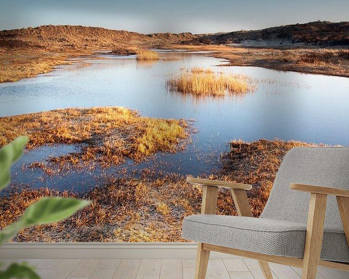 Sfeerimpressie behang: Bevroren Duinen van David Hanlon