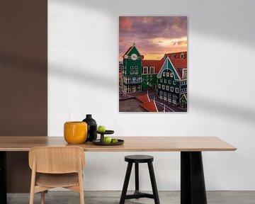 Zonsondergang in Zaandam, Nederland van Adelheid Smitt
