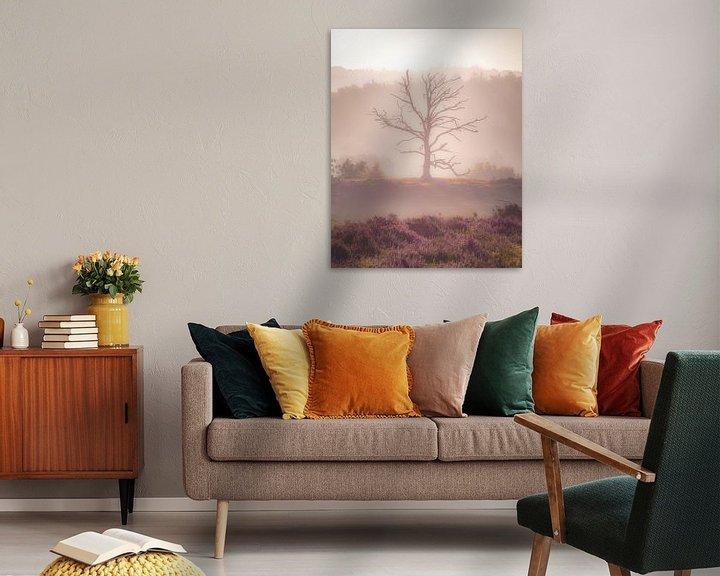 Sfeerimpressie: Zonsopkomst op de Posbank (dode boom) van Nicky Kapel