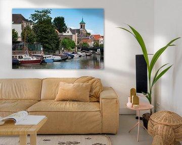 Haventje in het historisch centrum van Dordrecht van jacky weckx