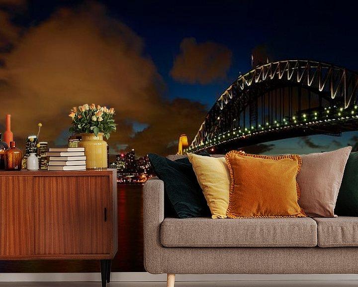 Sfeerimpressie behang: Sydney Skyline van Melanie Viola