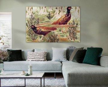 Gewone fazanten, Maurice Pillard Verneuil