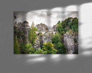 De Bastei brug in Saksisch Zwitserland van ManfredFotos